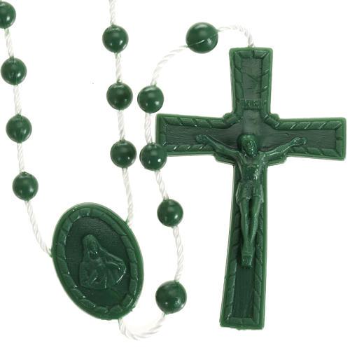 Green nylon rosary 1