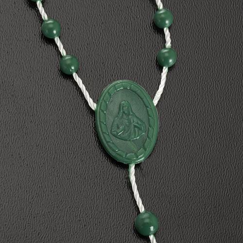 Green nylon rosary 3