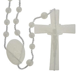 Economical rosaries: Fluorescent nylon rosary