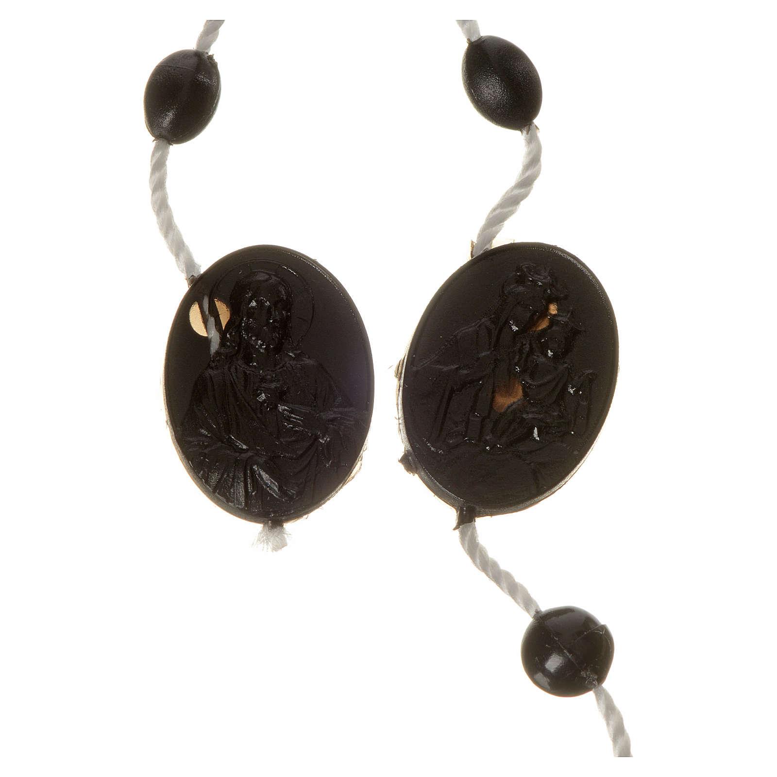 Black nylon rosary, centerpiece easy to open 4