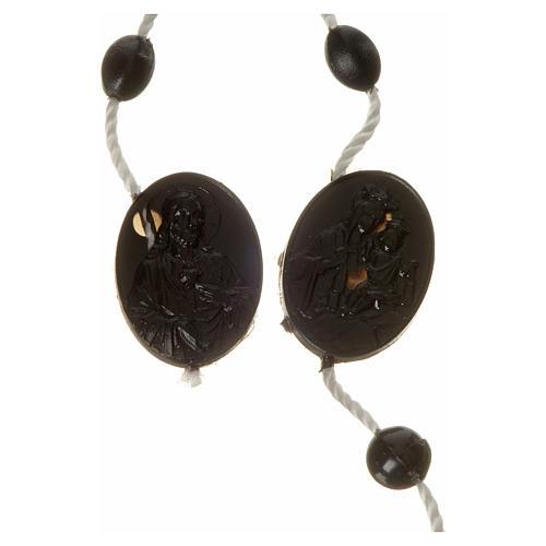 Black nylon rosary, centerpiece easy to open 2