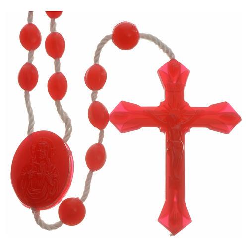 Chapelet nylon rouge pièce central ouverture facile 1