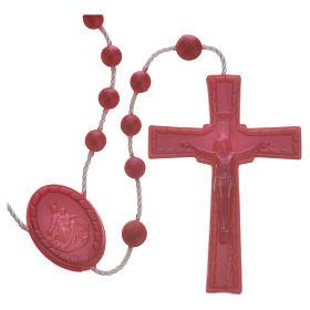 Rosario nailon perlado rojo s1