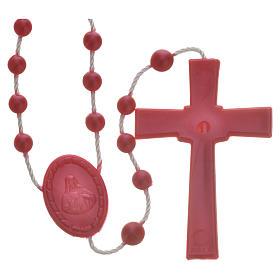 Rosario nailon perlado rojo s2