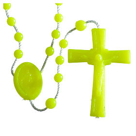 Nylon florescent rosary beads, yellow s4