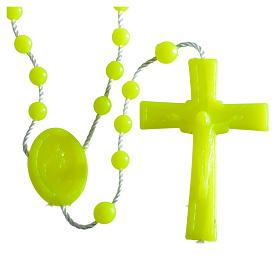 Rosario nylon fluorescente giallo s4