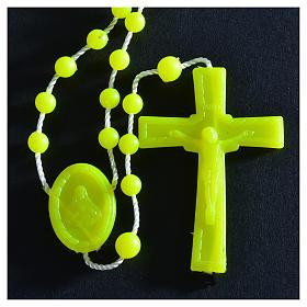 Różaniec żółty nylon fluorescencyjny s3