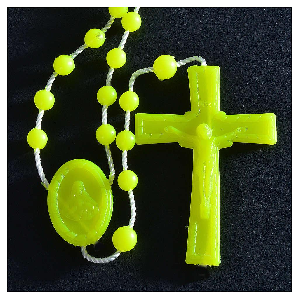 Terço nylon fosforescente amarelo 4