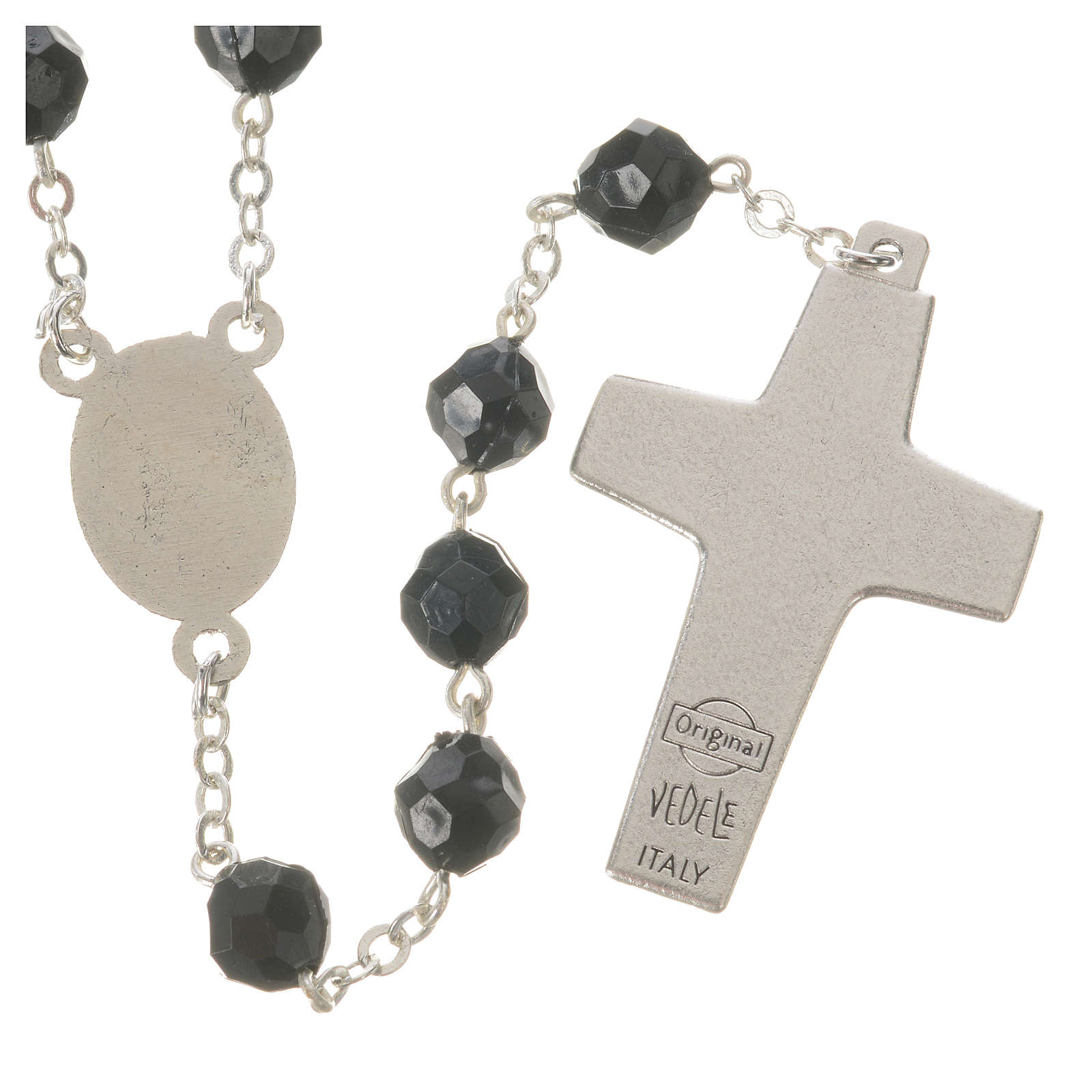 Pope Francis black rosary 7mm 4