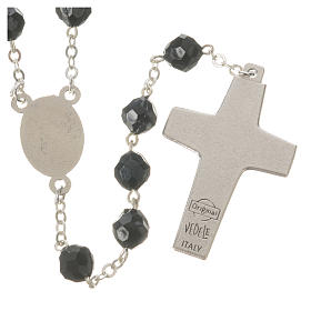 Pope Francis black rosary 7mm s2