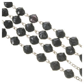Pope Francis black rosary 7mm s4