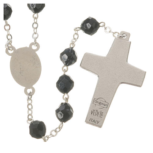 Pope Francis black rosary 7mm 2