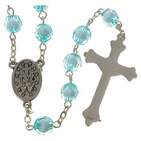 Rosary with Miraculous Medal and aquamarine grains 8mm s2