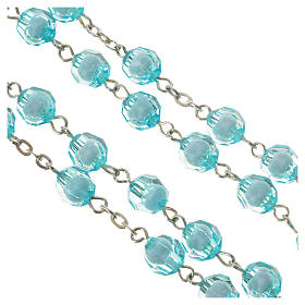 Rosary with Miraculous Medal and aquamarine grains 8mm s3