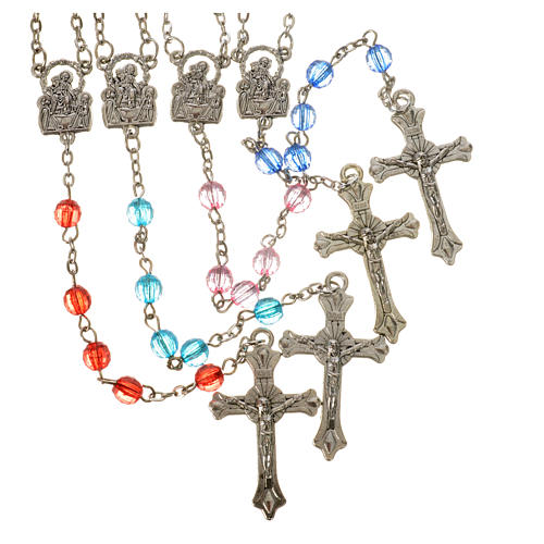 Our Lady of Pompeii rosary, acrylic 6mm 1