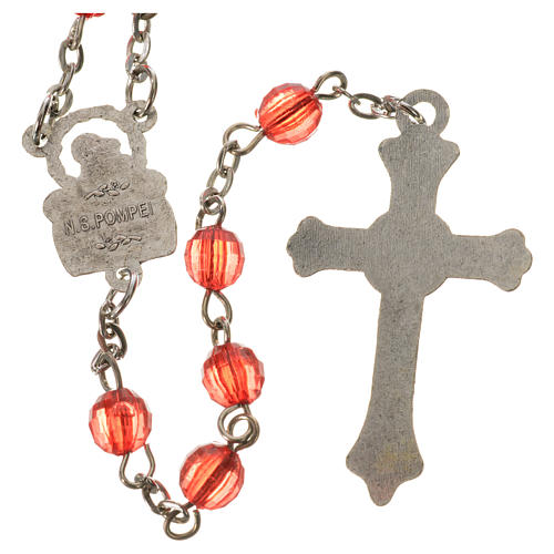 Our Lady of Pompeii rosary, acrylic 6mm 6