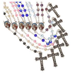 Terços Imitação Madrepérola: Terço João Paulo II 6 mm cores diferentes