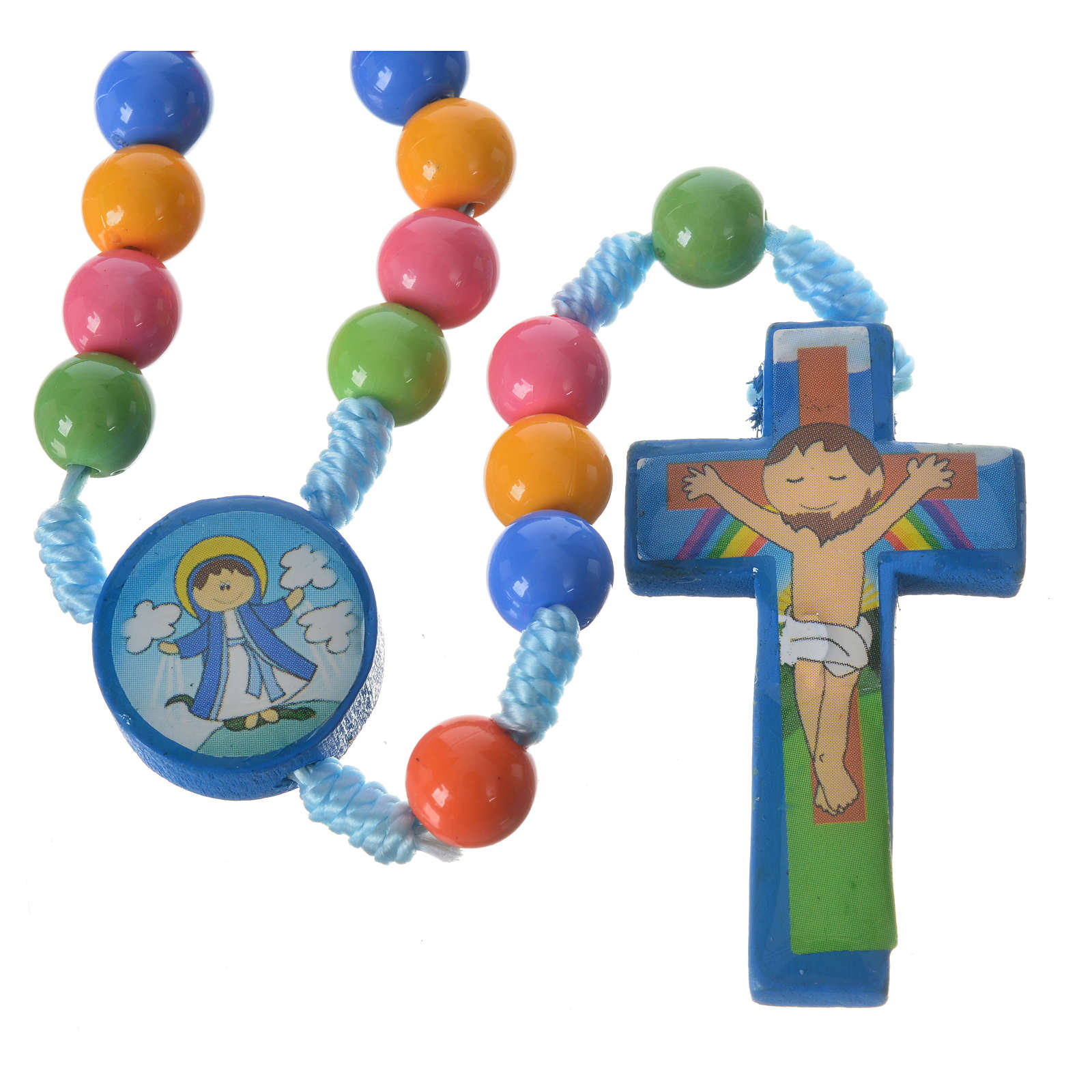 Rosary beads in multicoloured resin, 8mm 4