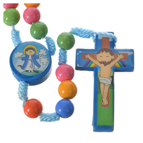 Rosary beads in multicoloured resin, 8mm 2