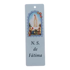 Rosario Virgen Fatima para niños cuentas estrellas azul con marcalibros s5
