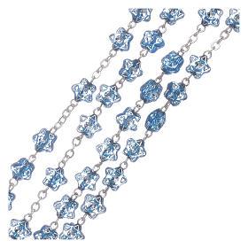 Terço Nossa Senhora Fátima para crianças contas estrela azul com marcador s3