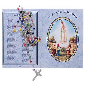 Rosario Fatima con grani 4 mm multicolore con libretto s5