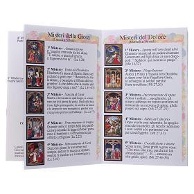 Rosario Fatima con grani 4 mm multicolore con libretto s7