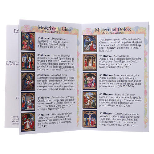 Rosary 4mm multicoloured beads with Our Lady of Fatima booklet 7