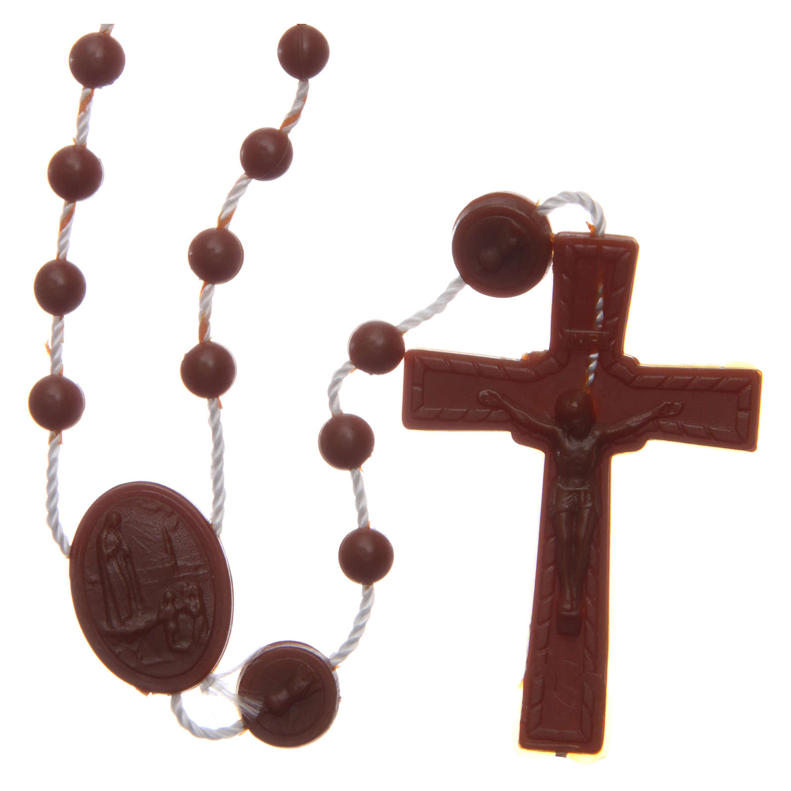 Rosary Our Lady of Fatima brown in nylon 6 mm 4