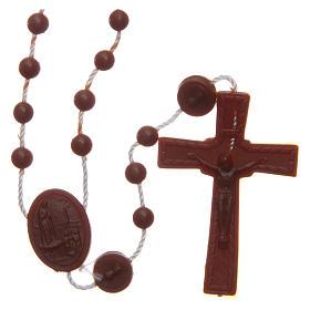 Rosario nylon marrón Nuestra Señora de Fatima 6 mm s1