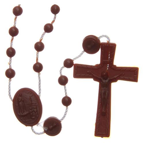 Rosario nylon marrón Nuestra Señora de Fatima 6 mm 1