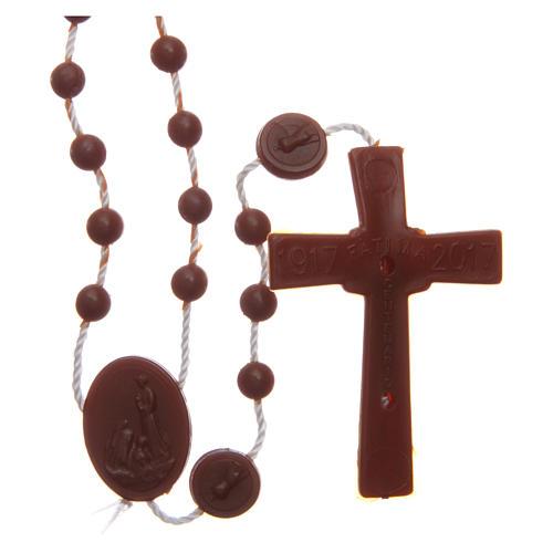 Rosario nylon marrón Nuestra Señora de Fatima 6 mm 2