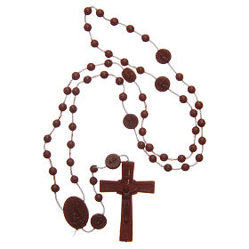 Rosary Our Lady of Fatima brown in nylon 6 mm s4