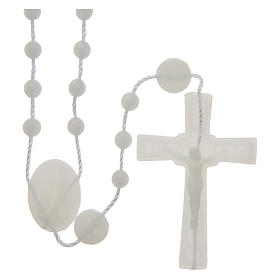 Economical rosaries: Our Lady of Fatima rosary phosphorescent 6 mm