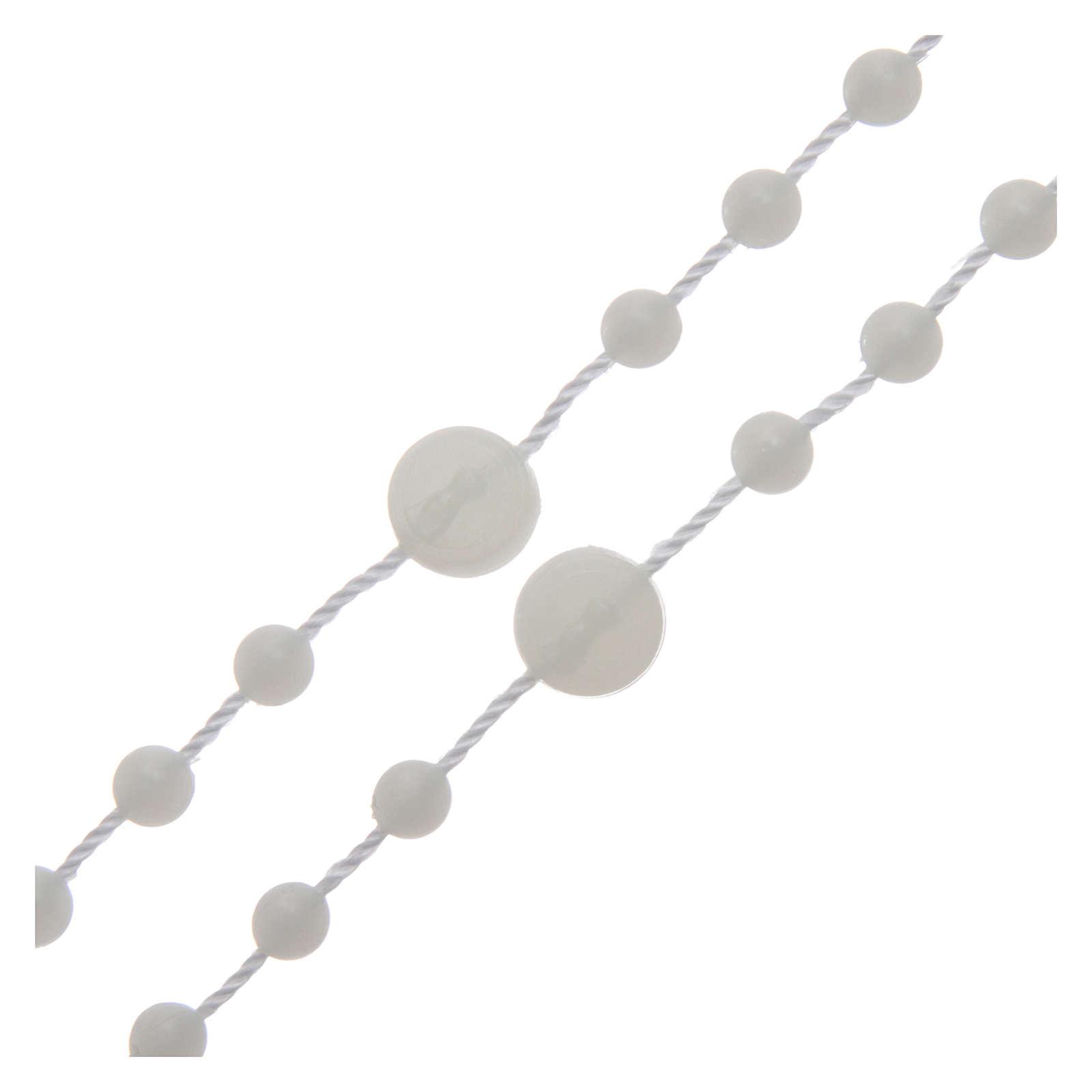Różaniec Fatima nylon fosforyzujący 6 mm 4