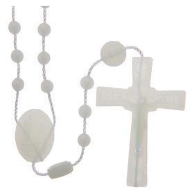 Our Lady of Fatima rosary phosphorescent 6 mm s2