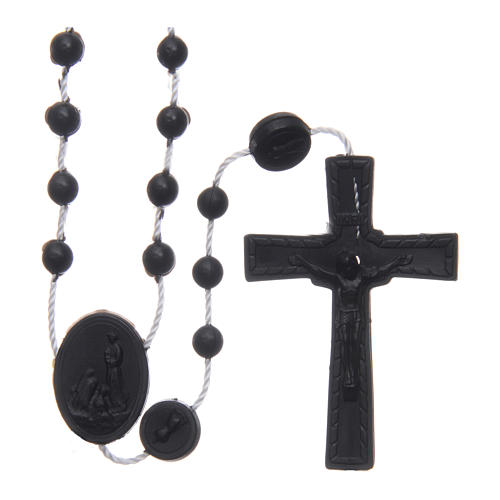 Our Lady of Fatima rosary black 6 mm 1