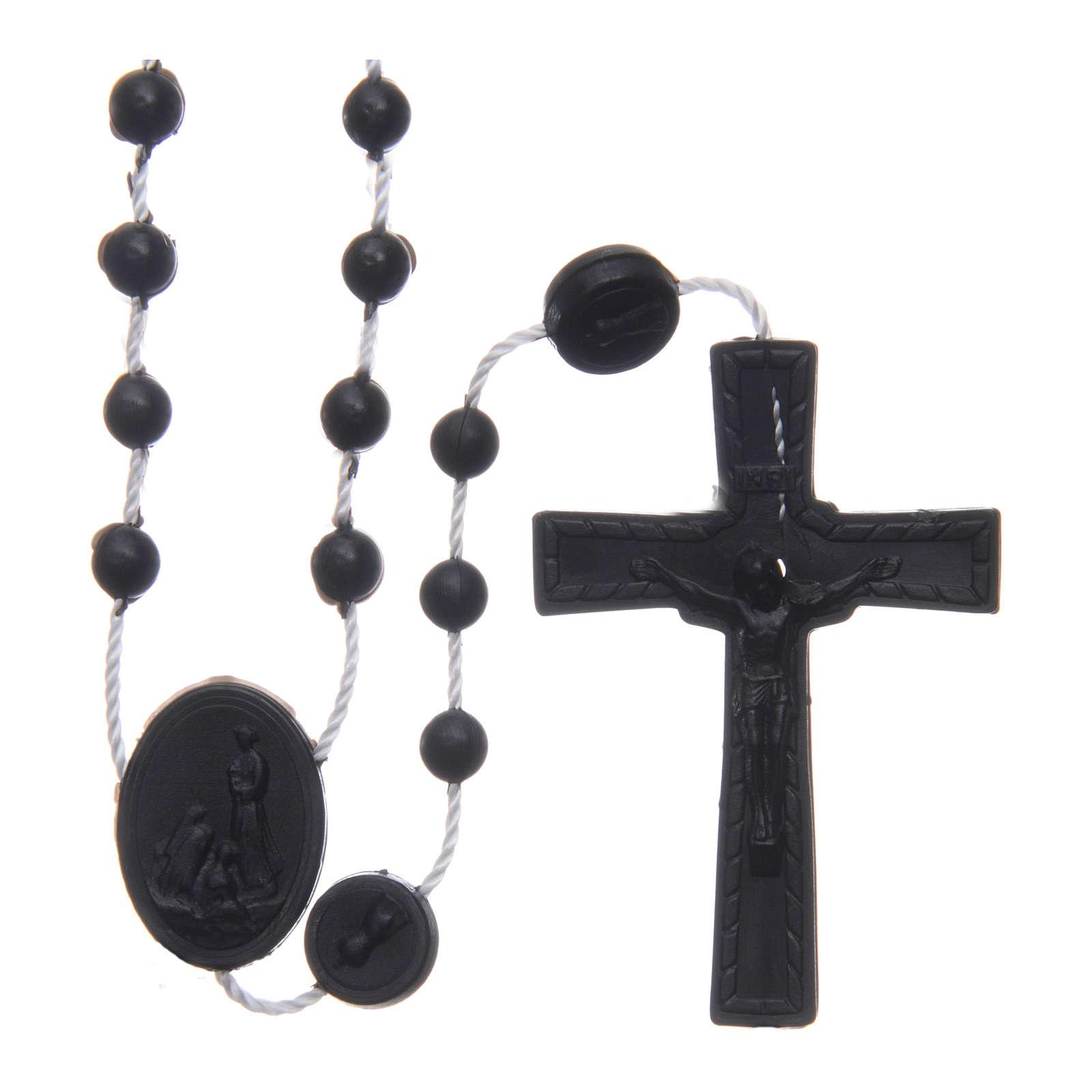 Rosario nylon negro Nuestra Señora de Fatima 6 mm 4