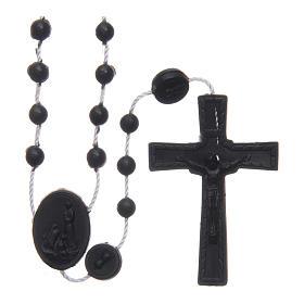 Rosario nylon negro Nuestra Señora de Fatima 6 mm s1