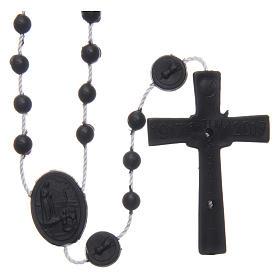 Rosario nylon negro Nuestra Señora de Fatima 6 mm s2