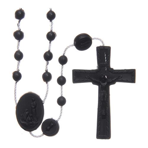 Rosario nylon negro Nuestra Señora de Fatima 6 mm 1