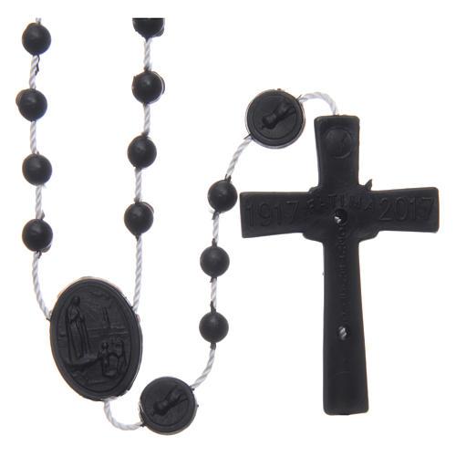 Rosario nylon negro Nuestra Señora de Fatima 6 mm 2
