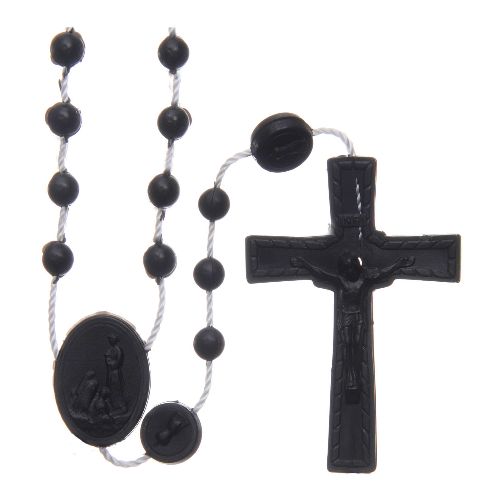 Chapelet Fatima nylon noir 6 mm 4