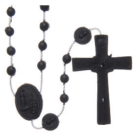 Chapelet Fatima nylon noir 6 mm s2