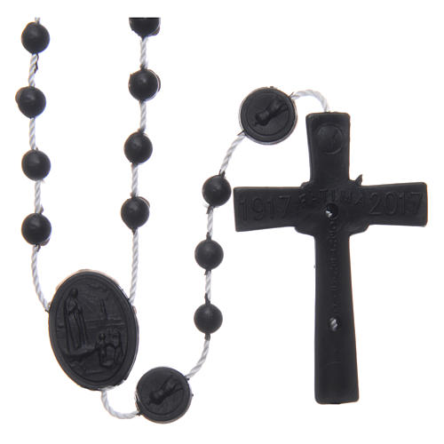 Chapelet Fatima nylon noir 6 mm 2