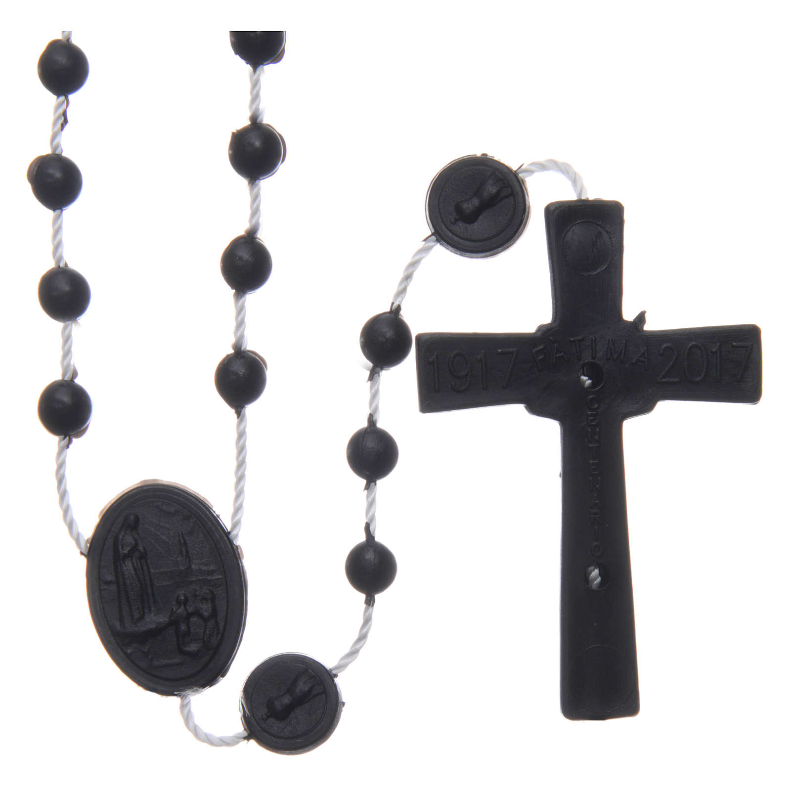 Our Lady of Fatima rosary black 6 mm 4