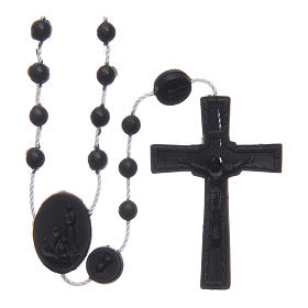 Our Lady of Fatima rosary black 6 mm s1
