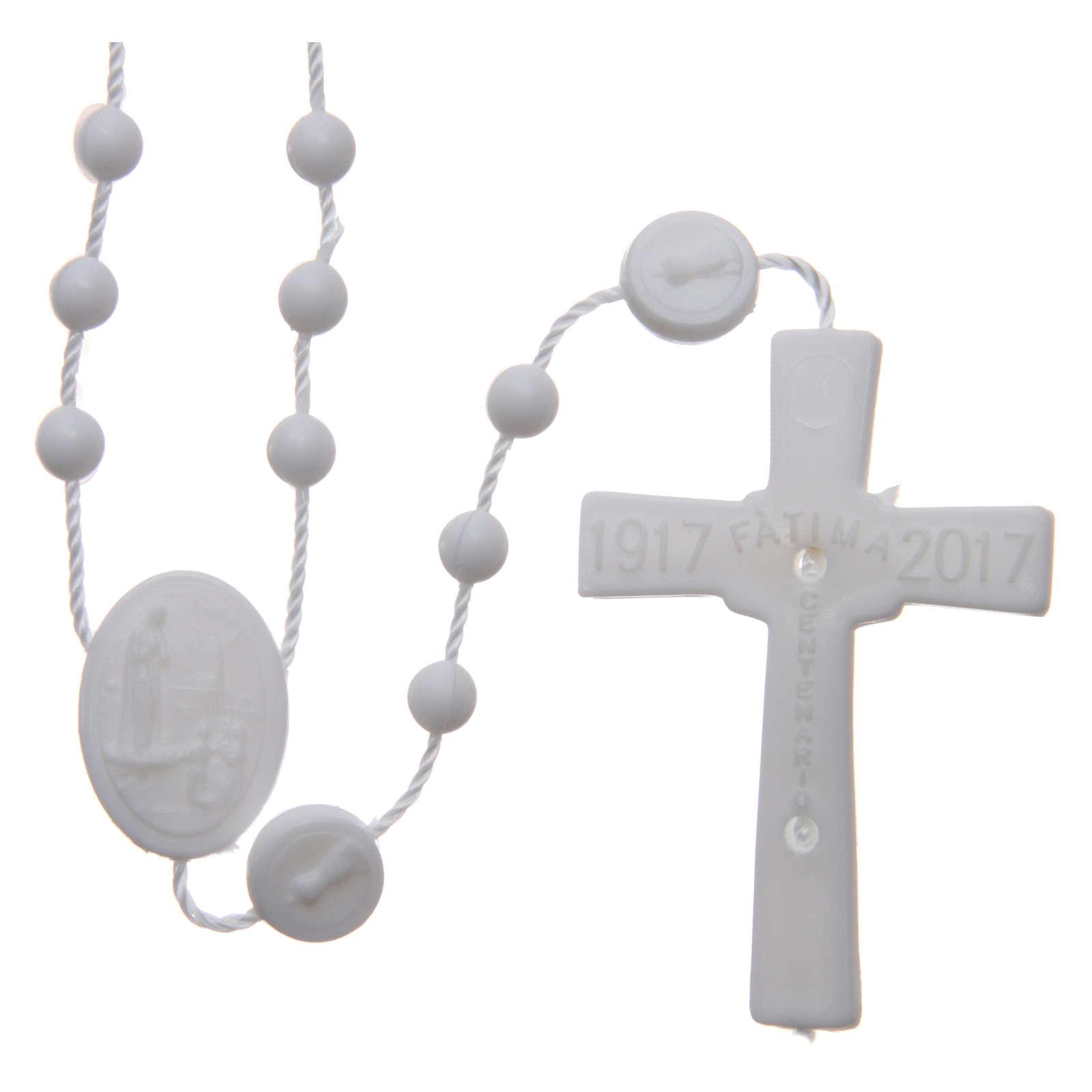 Rosario nylon blanco Nuestra Señora de Fatima 6 mm 4