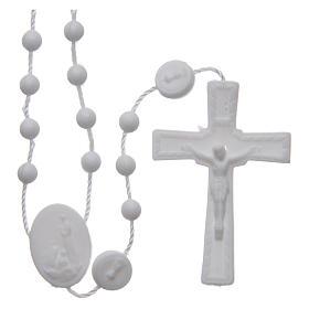 Rosario nylon blanco Nuestra Señora de Fatima 6 mm s1