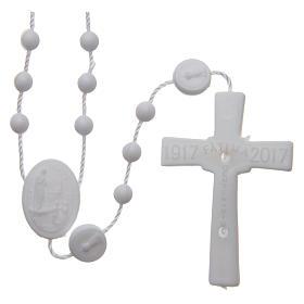 Rosario nylon blanco Nuestra Señora de Fatima 6 mm s2